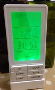 ニトリ 湿温計 デジタル時計