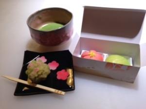 京都 甘春堂 和菓子手作り体験